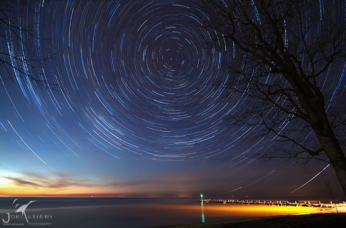 Star Trails over Webster Pier - Joe Alteri
