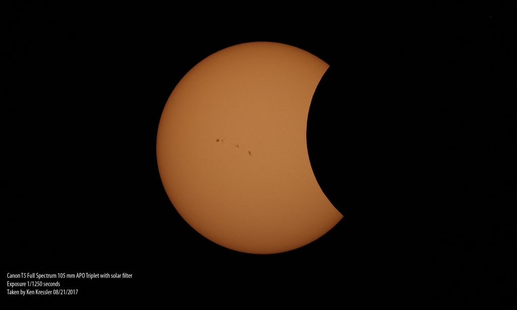 Solar Eclipse from the Farash Center - Ken Kressler