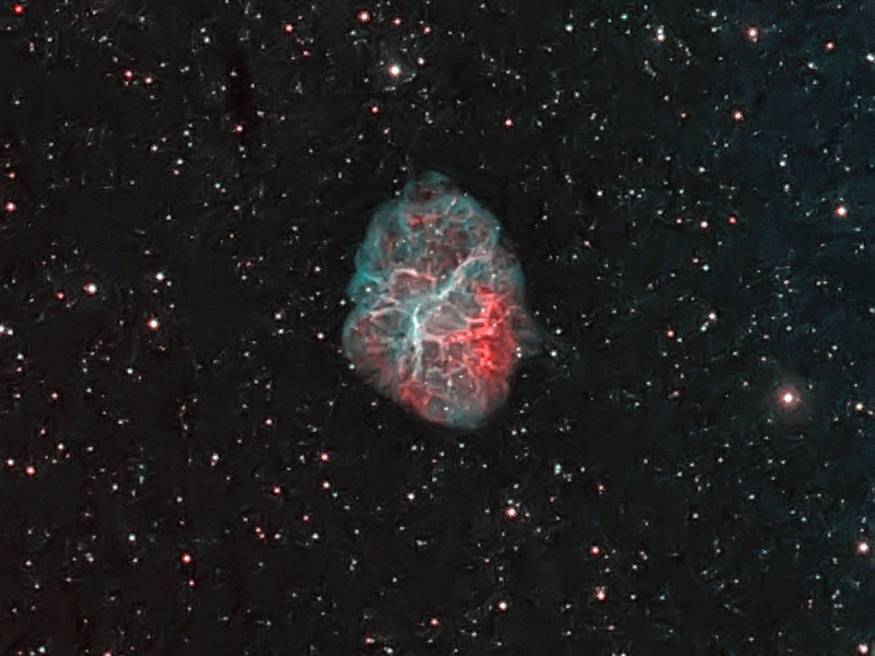 M1 Crab Nebula, photo by James Canning
